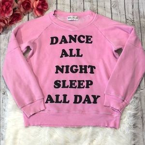 Wildfox Dance All Night Sleep All Day Pullover